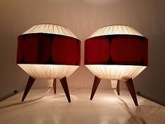 RARE-mid-century-modern-pair-of-table-lamps Mid Century Modern Lighting, Mid Century Modern Decor, Midcentury Modern, Mod Living Room, Mod Mod, Illumination Art, Vintage Architecture, Cool Lamps, Atomic Age