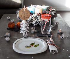 Weihnachtstisch decken dekorieren. DIY Weihnachtsdeko