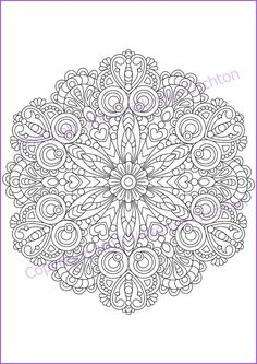 Coloring Page adult and children MANDALA zendala by ZentangleHouse