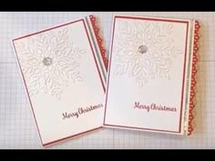 Sparkly Red and White Christmas Card