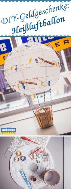 Mit diesem romatischen Heißluftballon begeistern Sie bestimmt jeden Beschenkten und die anderen Gäste werden Sie um diese Idee garantiert beneiden! Friends Hot, Presents For Friends, Diy Presents, Inspirational Gifts, Best Friend Birthday, Birthday Diy, Birthday Gifts, Best Wedding Gifts, Best Gifts
