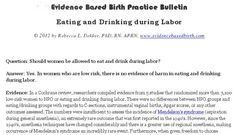 Practice bulletins for evidence-based maternity care from Evidence Based Birth