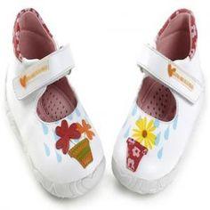 Agatha Prada Ruiz de la Prada Girls First Shoes - Flower Pots