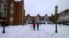 Loving these snow days at UNCC