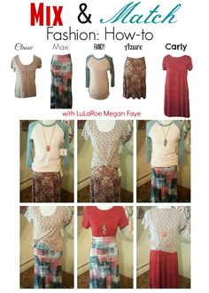 Wardrobe Capsule. How to mix and match your LuLaRoe to get the best bang for your buck!
