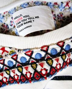 Leon and Harper Quotes And Notes, Style Me, Branding, Concept, Texture, Embroidery, Knitting, My Love, Style Diary