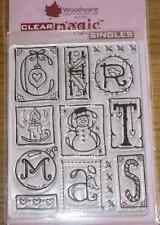 NEW Woodware 'Seasonal Sampler' Christmas Clear Stamp FRS225