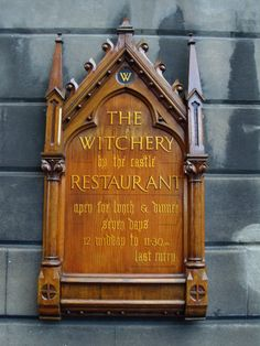 One of the best restaurants in the Scotland, The Witchery by the castle.