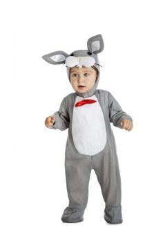 Disfraz de Conejo Gris para bebé