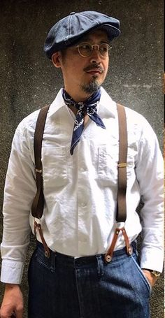 Japan Fashion, Mens Fashion, Fashion Outfits, Ivy Style, Hipster Man, Classic Outfits, Preppy Style, Stylish Men, Suspenders