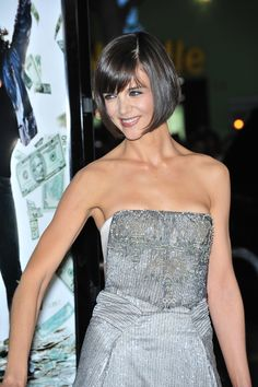 Last year, I made a huge hair change by getting bangs and I've never looked back! Hot Haircuts, Long Bob Hairstyles, 3 Haircut, Katie Holmes, Bangs, Hair Cuts, Hair Beauty, Hair Styles, 1920s