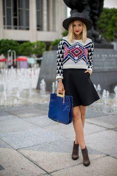 Love this aztec print sweater! So cute!