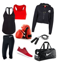 """""""Boxing outfit #1"""" by katiejaneferg ❤ liked on Polyvore featuring Falke, NIKE and Casall"""