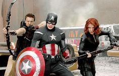 Clint Barton, Steve Rogers, Natasha Romanoff || The Avengers || 500px × 320px || #animated #bts