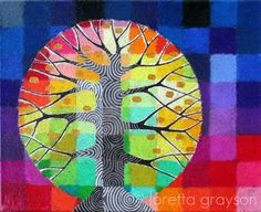 Test Pattern Tree | 8 x 10 mixed media on canvas Blogged her… | Flickr