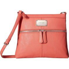 Nine West Encino (Canyon Coral) Handbags ($25) ❤ liked on Polyvore featuring bags, handbags, shoulder bags, pink, shoulder handbags, nine west purses, shoulder strap handbags, handbags shoulder bags and nine west handbags