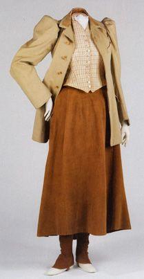 American riding ensemble circa 1896 (love every element!). #Victorian #fashion #1800s