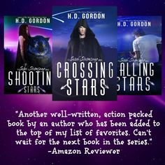 Now through Cyber Monday get the all three books in The Surah Stormsong Novels at a discount.  Shooting Stars, Book 1, only $.99 (Reg. $3.99) Falling Stars, Book 2, only $2.99 (Reg. $3.99) Crossing Stars, Book 3, will be $2.99 on 11/30/15 only!  Happy Reading!  Shooting Stars…