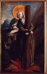 St. Afra, Martyr, Afra was burned to death, tied to a tree on the small island of Lech.