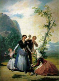 """La primavera. """" las floreras"""" de Goya."""