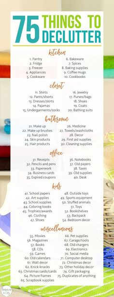 Here are 75 things to declutter and organize in the kitchen closet and more! # Here are 75 things to declutter and organize in the kitchen closet and more! Organizing Hacks, Organizing Your Home, Kitchen Organization, Storage Organization, Decluttering Ideas, Organising, Organizing Clutter, Bedroom Organization, Cleaning Checklist
