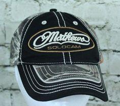 Mathews Archery Solocam Camo Adjustable Trucker Cap Baseball Hat  #Mathews #TruckerHat