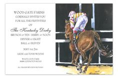 Post Kentucky Derby Invitation