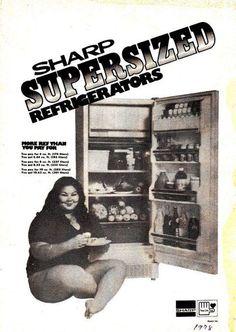 Cecil Iñigo a.k.a. Dabiana, endorsing Sharp Refrigerators.