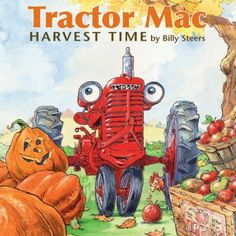 It is time for the 'Pumpkin Picking Festival'! Everyone is excited except Tractor Mac and Small Fred the neighbor tractor. Tractor Mac dreads the job of helping harvest apples and Small Fred struggles with pulling the heavy wagon to the pumpkin patch. Pumpkins roll, apples fly and a twist of fate helps the work get done.