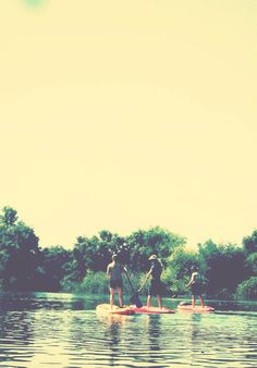 Paddle Boarding...I don't know if my balance is good enough for this