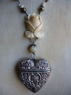 Be Still My Heart Vintage Repurposed Match Safe by PaulaMontgomery, $450.00