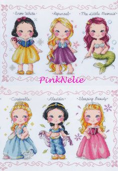 Princess Collection K9 Counted Cross Stitch by PinkNelie on Etsy