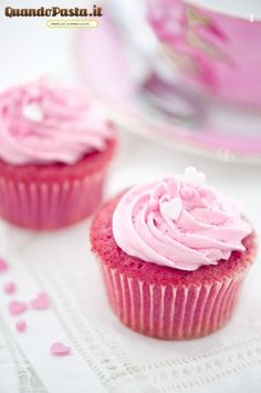 Pink Velvet Cupcakes! Very cute for valentine's day or a girls birthday party!