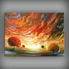 art abstract painting wall decor home decor wall door mattsart, $269.00