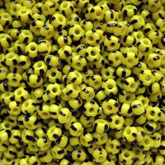 20 Grams – Approx. 260 Plus Seed Beads. 100 Grams – Approx. 1,300 Plus Seed Beads. 250 Grams – Approx. 3,200 Plus Seed Beads. US FLAT RATE SHIPPING. Black Stripes On Yellow Opaque Base. 5/0 Rocailles – E Beads - # 83500. Approx. 9 Beads Per Inch. 4 mm Ornela Czech Glass Seed Beads. These are known as Bumble Bee E-beads or seed beads. For more 5/0 & 6/0 beads: https://www.etsy.com/shop/TetraSeedBeads?ref=hdr_shop_menu&section_id=21093842  Fo...