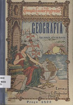 Geografia: for 3th 4th grades. 19th edition. Bookstore school Progredior, 1942. General Secretariat of the Ministry of Education, Portugal. The top book in the pile is about Vasco da Gama (1460-1524) who was a Portuguese explorer who discovered an ocean route from Portugal to the East. Da Gama sailed from Lisbon, on July 8, 1497. Many people thought that da Gama's trip would be impossible because it was assumed that the Indian Ocean was not connected to any other seas.