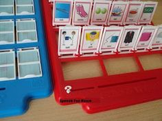 Fun way to use Guess Who game board for articulation and language.    Remember to visit my blog to find out how to get your free copy!