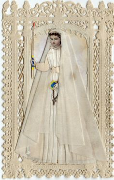 Souvenir DE 1ÈRE Communion Canivet Image Pieuse DE 1884