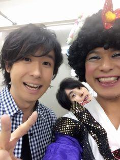 鈴村健一さん、ジョイまっくすポコさん、岡本信彦さん。 花咲くまにまにイベント、より。