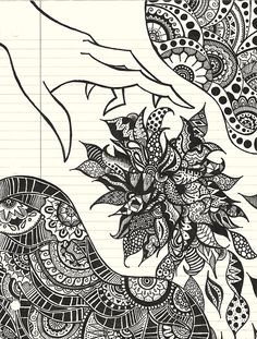 Zentangle Doodle Patterns | flowers # zentangles