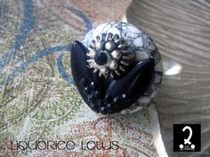 Truffle rings collection  Liquorice Lotus by DosPuntosAccessories, $32.00