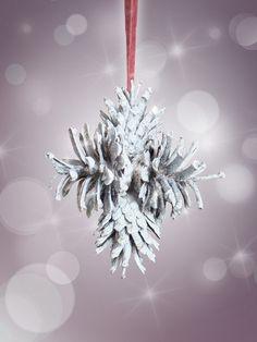 Pino conos natural estrellas adornos de Navidad por AttitudeNature