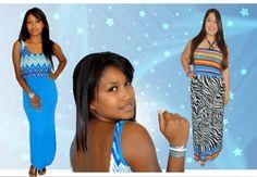 Vestidos de colores intensos y telas fescas