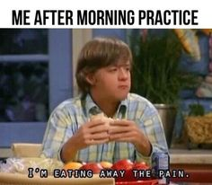 When the only way to cope after a morning practice is this: | 24 Pictures That Are Actually A Little Too Real For Swimmers