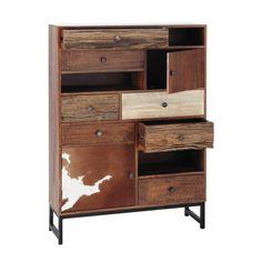Cabinet de rangement en manguier L 100 cm | Maisons du Monde