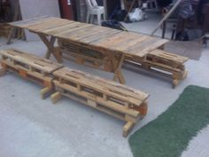 Latest Project Built a Patio Table and Four benches by Veggytrade