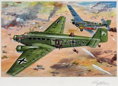 Airfix model kit art  Illustrated by Roy Cross  Year unknown