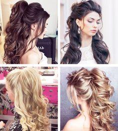 Hair styles festa solto curto Ideas for 2019 Cool Hairstyles For Girls, Long Face Hairstyles, Party Hairstyles, Afro Hairstyles, Trendy Hairstyles, Wedding Hairstyles, Curly Hair Styles, Natural Hair Styles, Bouffant Hair