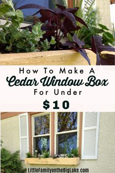 How To Make A Cedar Window Box – Little Family on the Big Lake – – front yard landscaping simple Cedar Window Boxes, Window Box Diy, Pergola, Window Box Flowers, Big Lake, Front Yard Landscaping, Landscaping Ideas, Diy Box, Bay Window