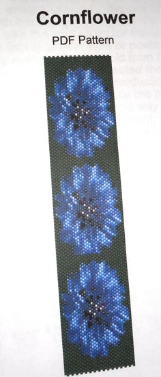 Cornflowers  PDF Beadweaving Pattern  INSTANT von StarwavesDesigns, £4.00